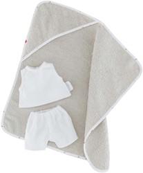 Corolle poppenkleding Bb12 ''Hooded Bathtowel &Underwear DMV11