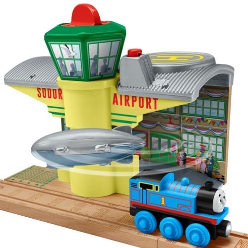 Thomas and Friends houten trein gebouw Sodor Zeppelin airport -2