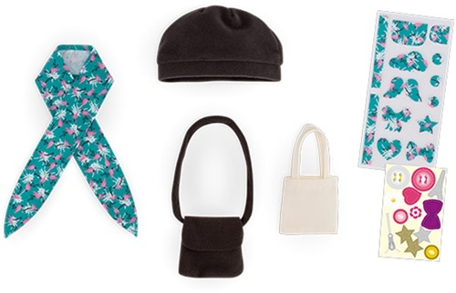Corolle poppenkleding Mcc Bags & Hat Set To Be Customized FBL56