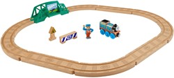 Thomas and Friends houten trein set - Real Wood 5-in-1 builder set
