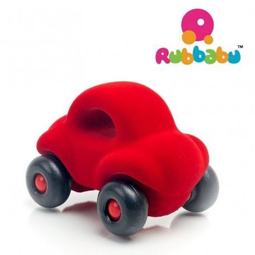 Rubbabu The Little Wholedout Car (Rood)