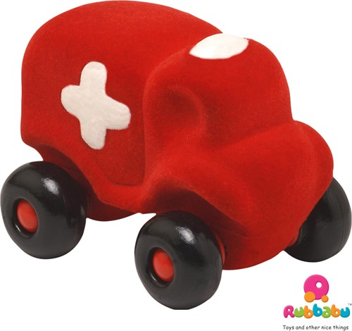 Rubbabu - Kleine ambulance rood