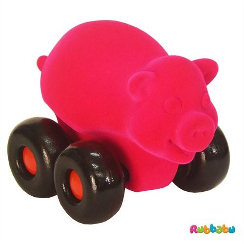 Rubbabu Aniwheelie pig pink large