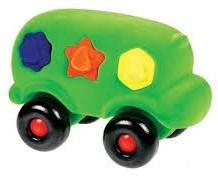 Rubbabu Shape Sorter Bus (Green)