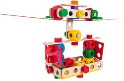 Baufix houten constructie speelgoed super set 103 delig
