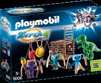 Playmobil Super 4 - Alien krijgers met T-Rex  9006