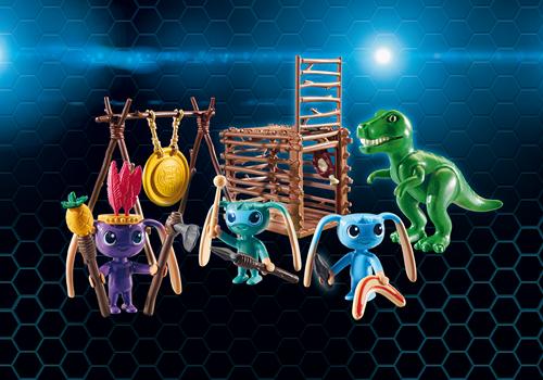 Playmobil Super 4 - Alien krijgers met T-Rex  9006-3