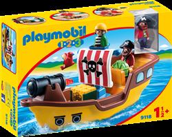 Playmobil 1.2.3 - 1.2.3 Piratenschip   9118