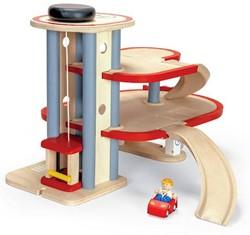 Plan Toys  Plan City houten speelstad gebouw Parkeer garage