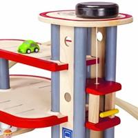 Plan Toys  Plan City houten speelstad gebouw Parkeer garage-2