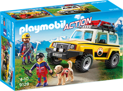 Playmobil Action - Reddingswerkers met terreinwagen  9128