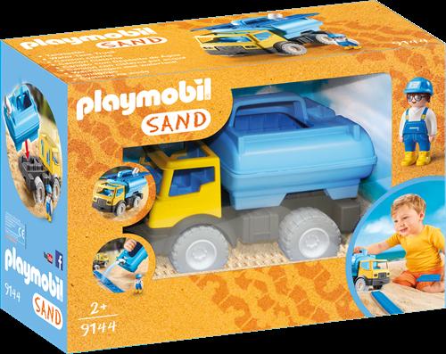 Playmobil 1.2.3 Sand - Vrachtwagen met watertank  9144