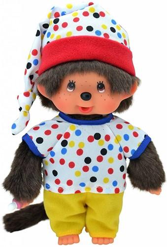 Monchhichi knuffelpop Jongen Gekleurde outfit - 20 cm