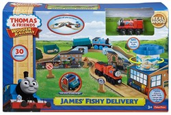 Thomas and Friends  houten trein James & The Fishery Set