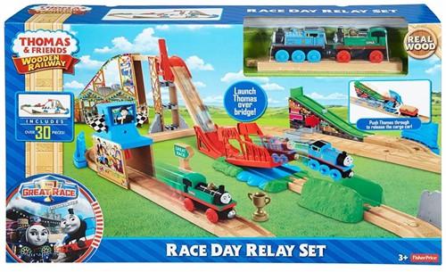 Thomas and Friends  houten trein set Race Delay Relay Set-2