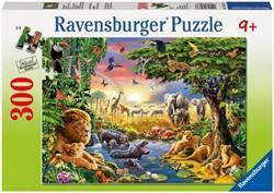 Ravensburger  legpuzzel Avondzon bij de drinkplaats - 300 stukjes