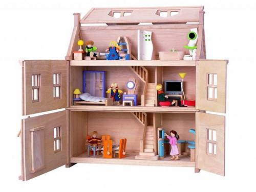 Plan Toys  houten poppenhuis Victorian dollhouse-2