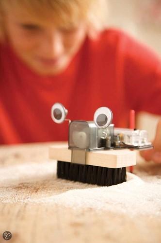 4M  Kidz Labs wetenschap speelgoed Borstelrobot
