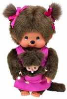 Monchhichi knuffelpop Mother Care Pink - 20 cm-1