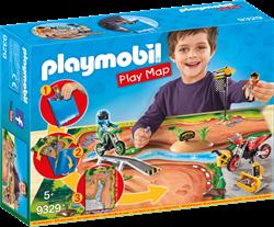Playmobil Action Play Map Motorcrossers met plattegrond 9329