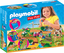 Playmobil Country Play Map ponyrijders met plattegrond 9331