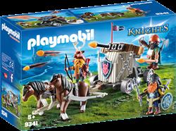 Playmobil Knights Mobiele ballista met pony's en dwergen