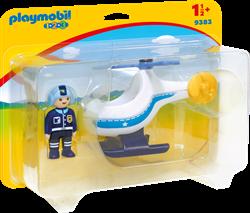 Playmobil 1.2.3 Politiehelikopter  9383