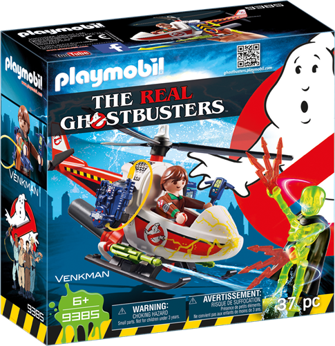 Playmobil Ghostbusters - Venkman met helikopter  9385