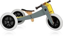 Wishbonebike houten loopfiets 3-bikes-in-1 grijs