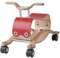 Wishbonebike - houten loopauto - Flip Rood-1