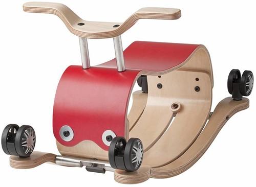 Wishbonebike - houten loopauto - Flip Rood-2