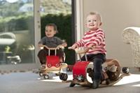 Wishbonebike - houten loopauto - Flip Rood-3