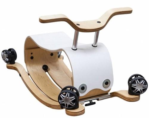 Wishbonebike -  houten loopauto - Flip Wit