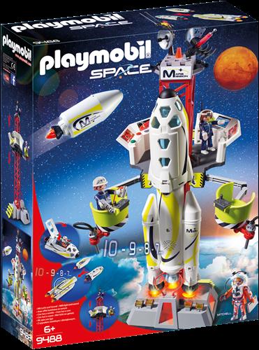 Playmobil Space - Mars-raket met lanceerplatform  9488