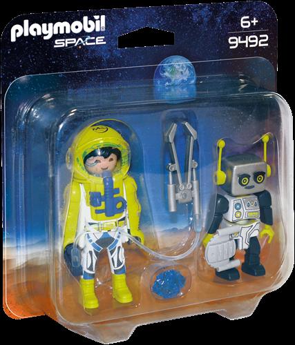 Playmobil Space - DuoPack Astronaut en robot  9492
