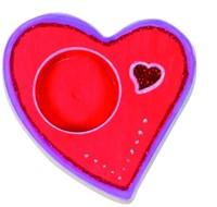 Beleduc  houten knutselspullen Theelicht hart
