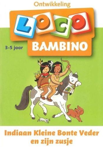 Loco Bambino Indiaan kleine Bonte Veder en zijn zusje.  3- 5 jaar