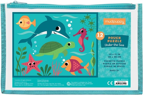 Mudpuppy Pouch Puzzle - Under the Sea - 12pcs