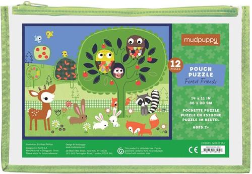 Mudpuppy Pouch Puzzle - Forest Friends - 12pcs