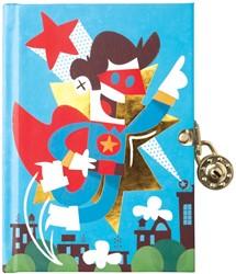 Mudpuppy dagboek met slot Superheld