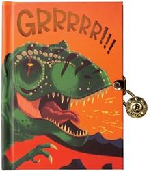 Mudpuppy dagboek met slot Dino
