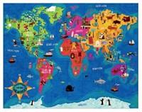 Mudpuppy Legpuzzel Rond de Wereld 63 stukjes-2