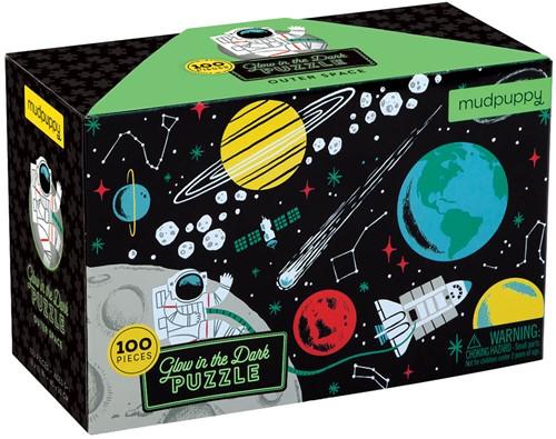 Mudpuppy puzzel Glow in Dark Puzzle - Outer Space