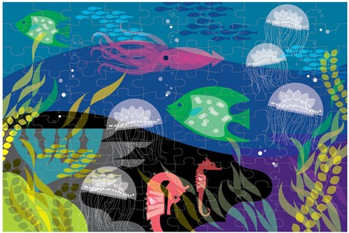 Mudpuppy puzzel Glow in Dark Puzzle - Under the Sea-2