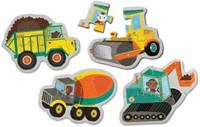 Mudpuppy Mijn Eerste Puzzel Bouwvoertuigen 4 puzzels van 3 stukjes-2