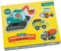 Mudpuppy Mijn Eerste Puzzel Bouwvoertuigen 4 puzzels van 3 stukjes
