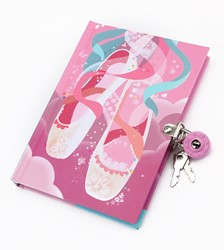 Mudpuppy dagboek met slot Balletschoenen