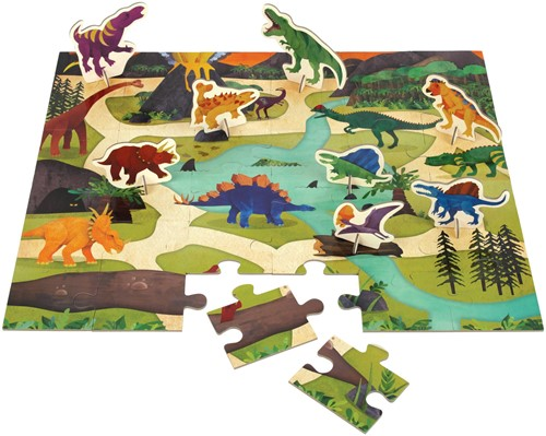 Mudpuppy Puzzel Play Set Dinosaur Park 36 stukjes-2
