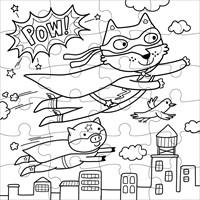 Mudpuppy Inkleurpuzzel Superheld 24 stukjes & 5 Crayons-2