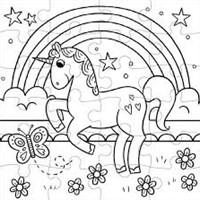 Mudpuppy Inkleurpuzzel Magische Eenhoorn 24 stukjes & 5 Crayons-2